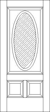 2 Raised Panel 1 Oval Lite 750 Exterior Door