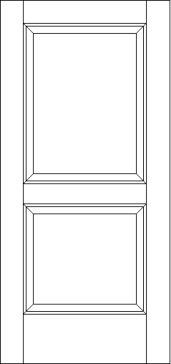 2 Raised Panel Solid Wood Exterior Door