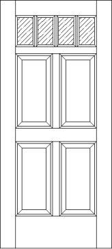 4 Raised Panel 4 Lite 125 Exterior Door