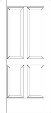 4 Raised Panel Traditional Exterior Door