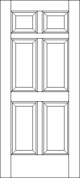 6 Raised Panel Traditional Exterior Door