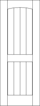 Bevel Tounge and Groove 2 Arch Top Panel Interior Door