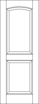 2 Arch Top Raised Panel Interior Door
