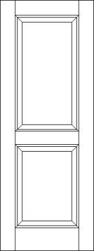 2 Raised Panel Solid Wood Interior Door