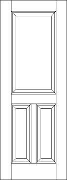 Traditional 3 Raised Panel Interior Door