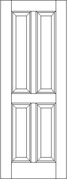 Traditional 4 Raised Panel Solid Wood Interior Door