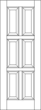 Equal 6 Raised Panel Interior Door