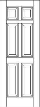 Classic 6 Raised Panel Interior Door