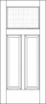 Two Panel One Light 250 Exterior Door