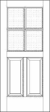 Two Panel Four Light 500 Exterior Door