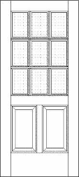 Two Panel Nine Light 625 French Door
