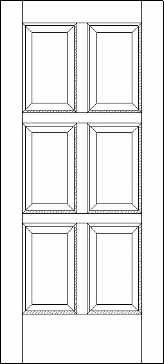 Six Equal Panel Exterior Door