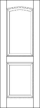 Raised Panel 3 Panel Door hc